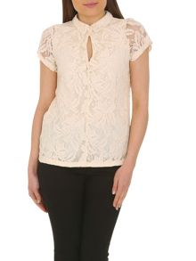 Collared lace top