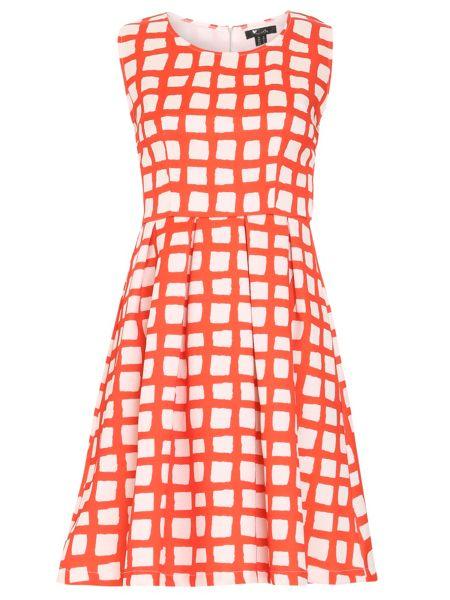 Cutie Painted checkered print dress