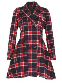Checkered Fitted Coat