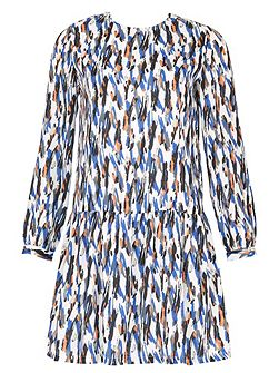 Paint stroke print dress