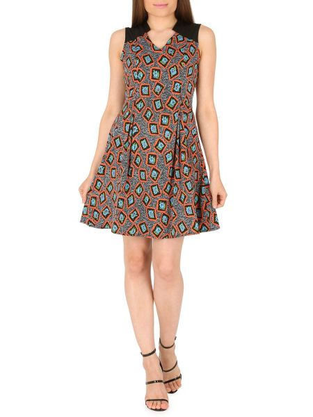 Cutie Vibrant print dress