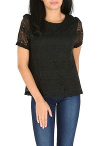 Lace texture top