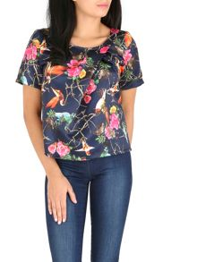 Cutie Bird print top