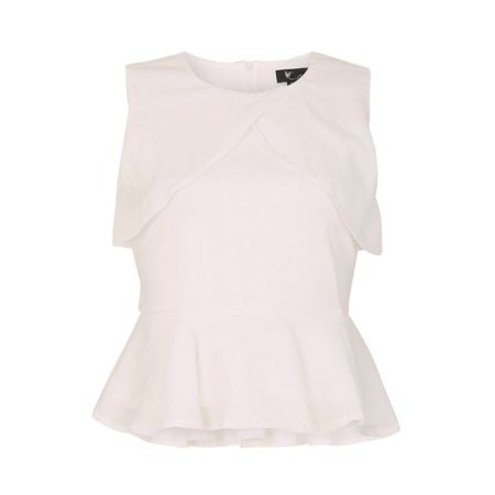 Cutie Shoulder Panel Peplum Top