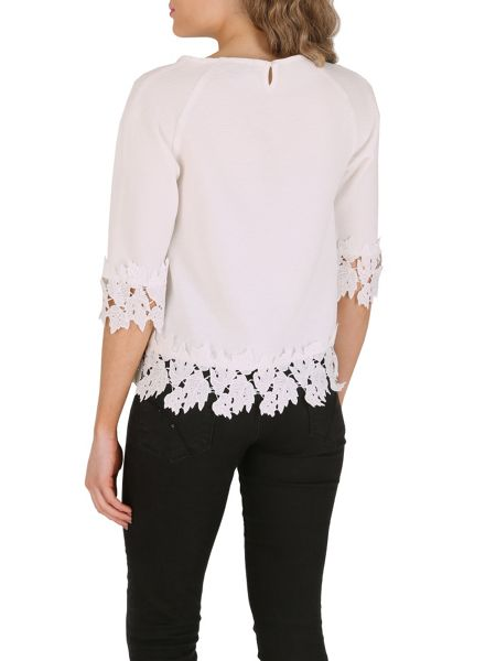 Cutie Lace Trimmed Top