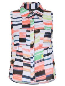 Cutie Coloured Block Sleeveless Dress