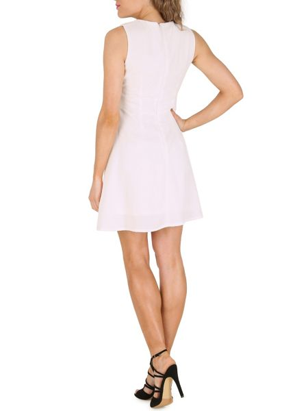 Cutie Pleated Front Dress