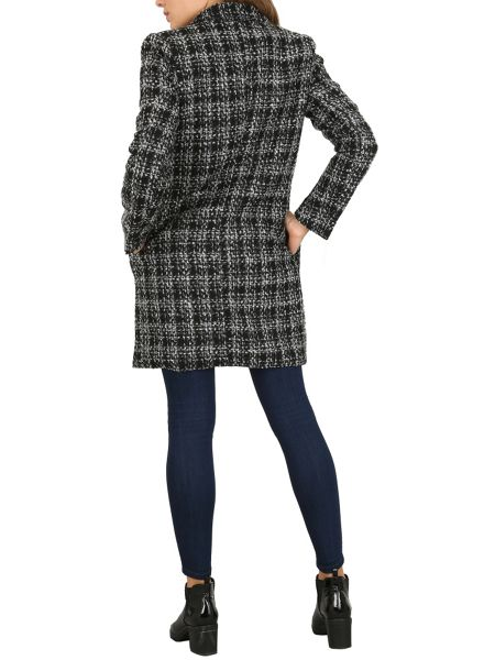 Cutie Checkered Oversized Coat
