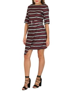 Cutie Striped Belted Dress