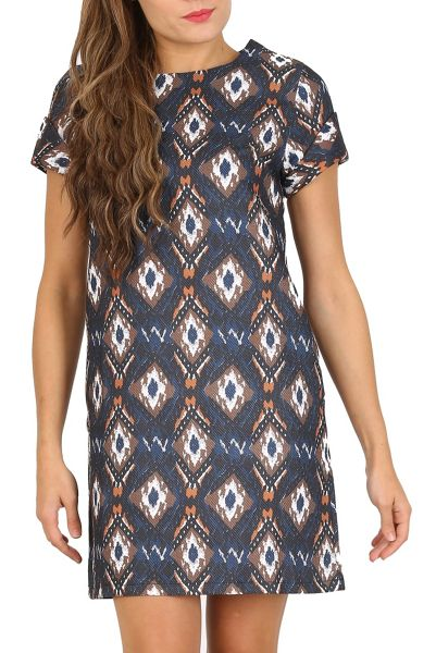 Cutie Turn Up Sleeve Shift Dress