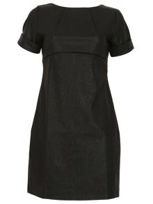 Cutie Leatherette Shift Dress