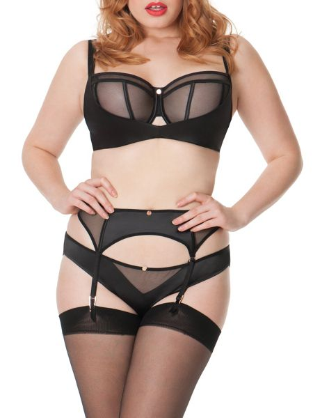 Curvy Kate Scantilly peekaboo suspender belt