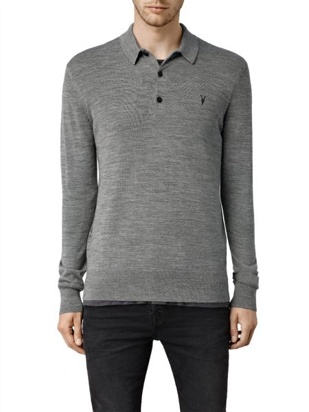 AllSaints Mode merino Long Sleeve Jumper