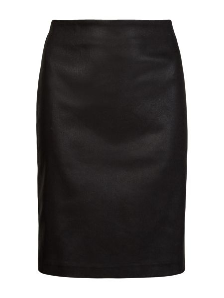 AllSaints Metal Pencil Skirt