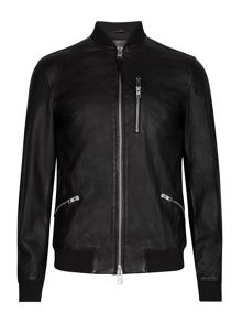 AllSaints Utility Leather bomber Jacket