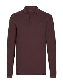 AllSaints Reform long sleeve polo