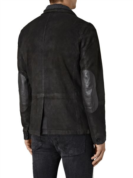 AllSaints Survey Leather blazer