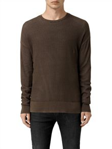 AllSaints Skomer Long Sleeve Crew Neck Jumper