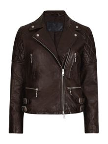 AllSaints Armstead Leather Biker Jacket