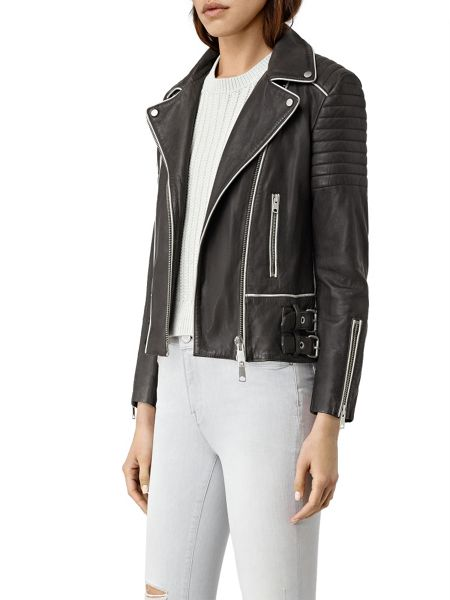 AllSaints Bixer Piped Biker Jacket
