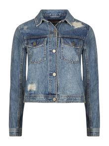 AllSaints Katie Distressed Jacket