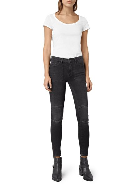 AllSaints Biker Patched Pocket Jeans