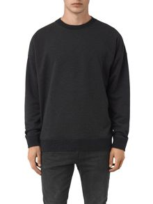 AllSaints Elders long sleeve crew neck sweatshirt