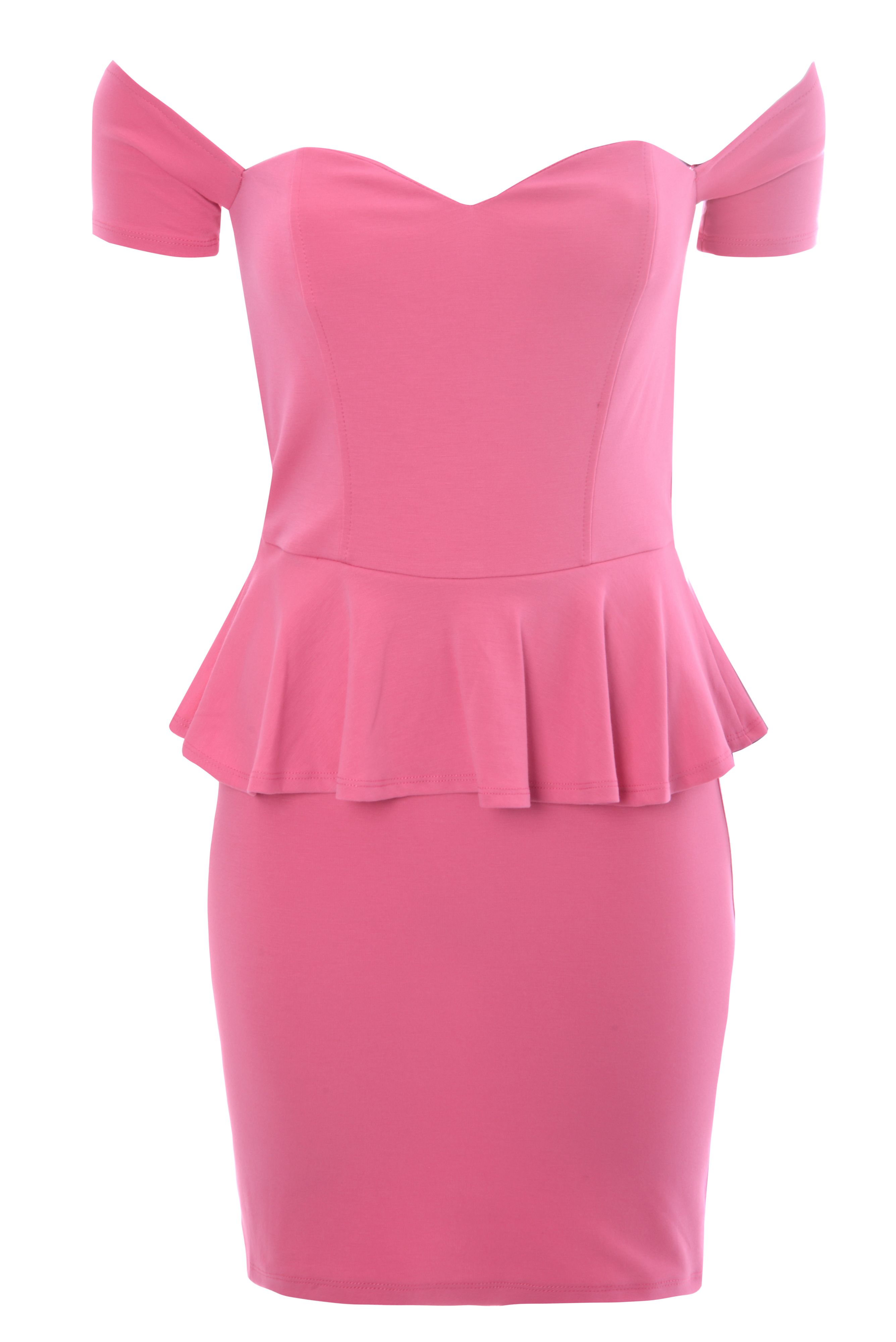 Bardot Peplum Dress