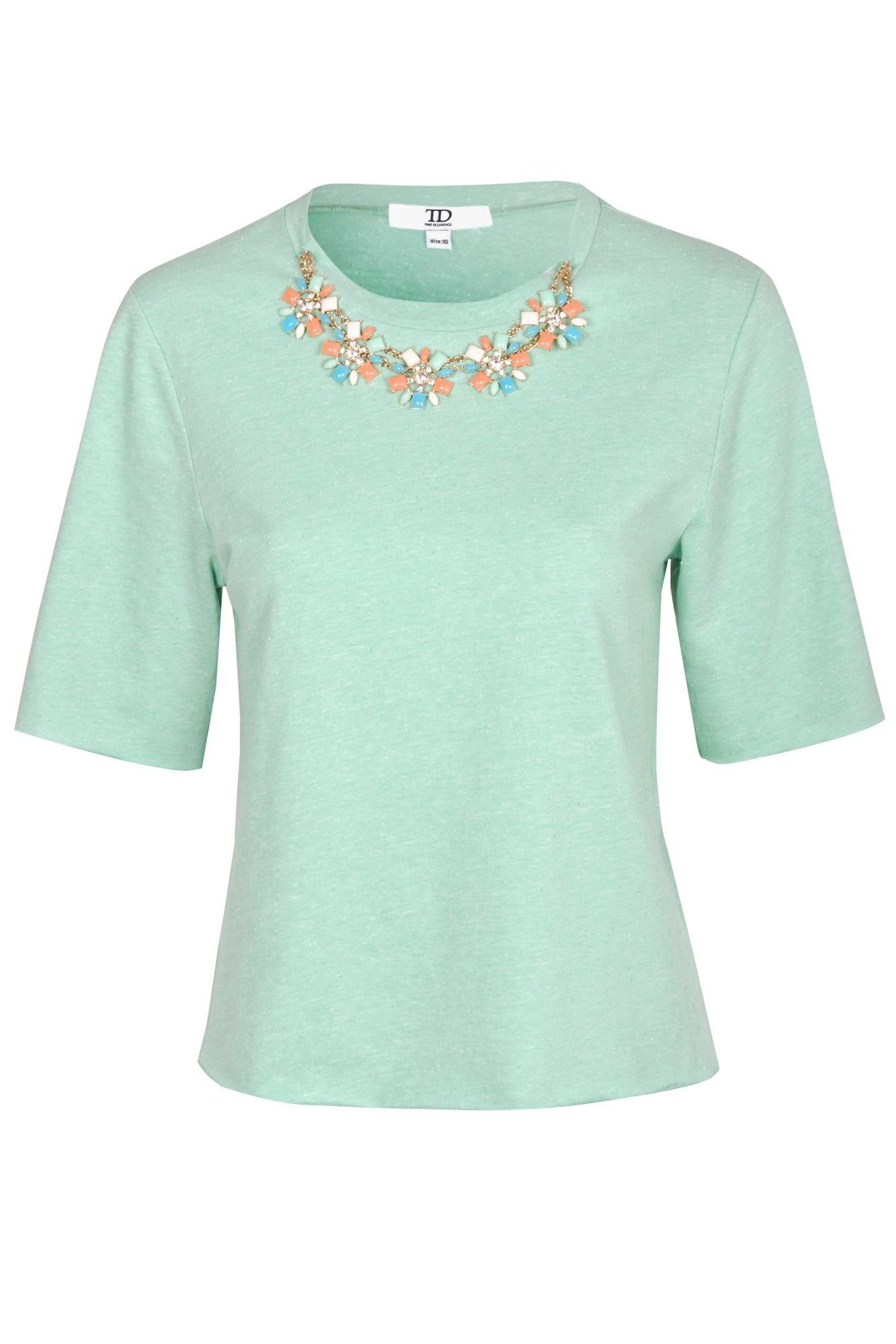 Jewelled Neck Blouse
