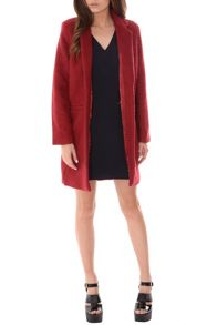 Longline Open Front Wool Coat