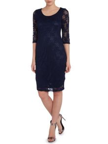True Decadence Lace layer midi dress