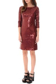 True Decadence Bodycon Sequin Midi Dress
