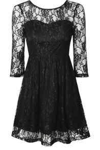 True Decadence Sweetheart Lace Skater Dress