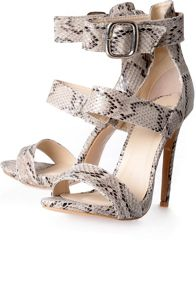 Alice & You Snakeskin Ankle Strap Sandals