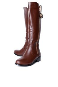 Zip up knee high boot