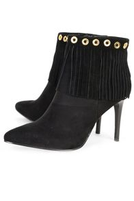 Alice & You Heeled fringe ankle boot
