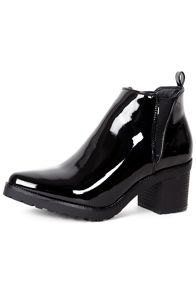 Alice & You Patent heeled ankle boot