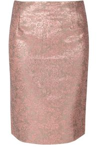 True Decadence Metallic Tweed Pencil Skirt