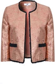 True Decadence Metallic Tweed Jacket