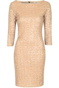 True Decadence Sequin sleeved bodycon dress