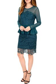 Alice & You Lace Overlayer Peplum Dress