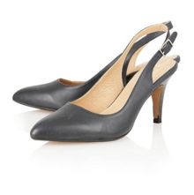 Gloss sling back high heel shoes