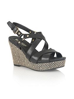 Robyn strappy wedges