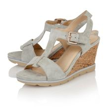 Lotus Mirror wedge sandals