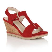 Mirror wedge sandals