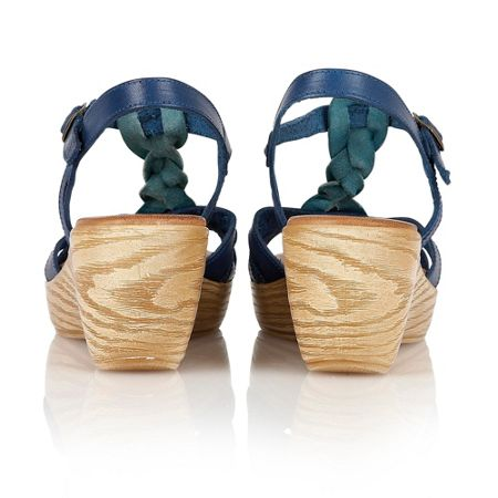 Lotus Parmaggiano wedge sandals