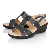 Jenga open toe sandals