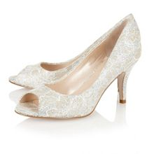 Lotus Eva peep toe shoes