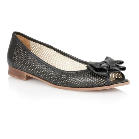 Lotus Willana peep toe flat shoes