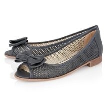 Willana peep toe flat shoes